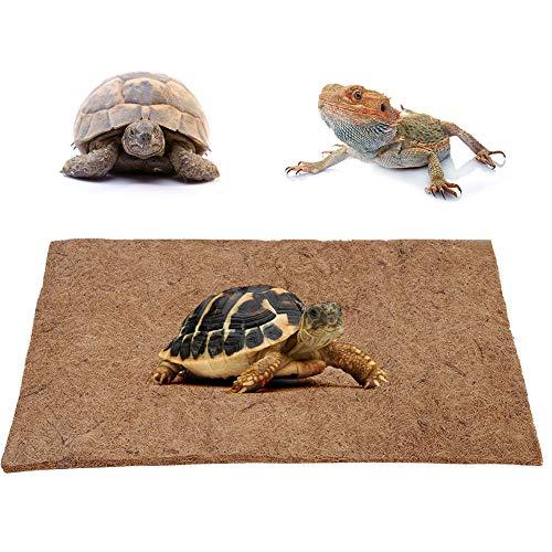 Alfombra de fibra de coco HEEPDD, caja de reptiles, alfombra de fibra de coco natural, almohadilla inferior para mascotas, terrario, ropa de cama, sustrato, paisaje para lagartos, tortugas