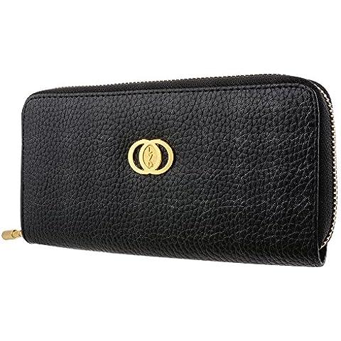 XCSOURCE Donne Moda signore di lusso di grande capienza a lungo borsa frizione borsa Zipper Wallet caso pochette nera MT292