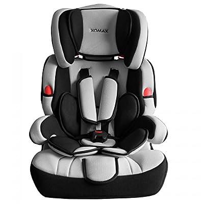 XOMAX XL-518 Kindersitz mit ISOFIX I mitwachsend I 9-36 kg, 1-12 Jahre, Gruppe 1/2/3 I 5-Punkt-Gurt und 3-Punkt-Gurt I Bezug abnehmbar und waschbar I ECE R44/04