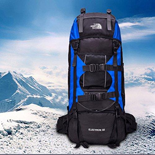 80 l im Freien Reiserucksack Lasten Schulterbeutelhalter professionelle Bergsteigen Taschen Reisetaschen Blau