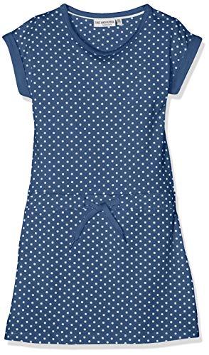 SALT AND PEPPER Mädchen Dress Friend Allover Kleid, Blau (Jeans Blue Melange 487), 104 (Mädchen-blaue Jeans-kleid)