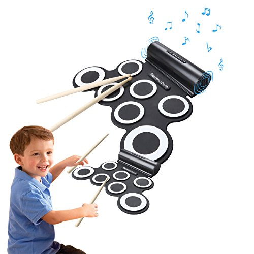electronic-roll-up-drum-pad-kit-coastacloud-portable-electronic-drum-set-with-built-in-speaker-stick