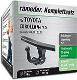 Rameder Komplettsatz, Anhängerkupplung starr + 13pol Elektrik für Toyota Corolla Verso (117500-05127-1)