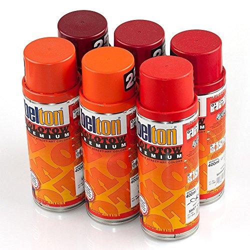 Molotow PREMIUM Sprühdosen Rot Farben 6er Set