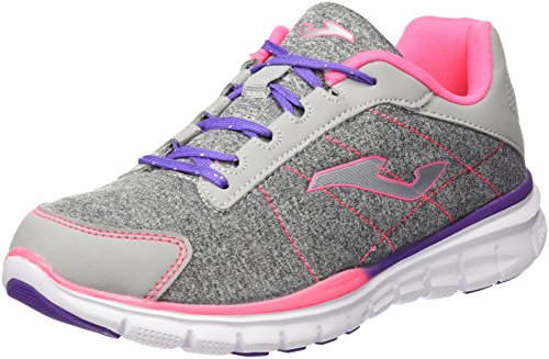 Joma J.Tempo 612 Gris-Fucsia, Chaussures Fille