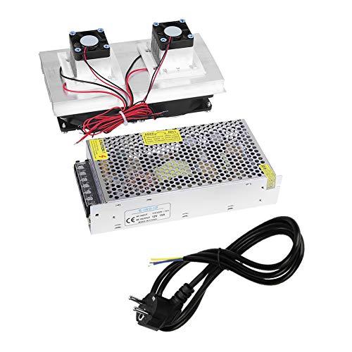 Bloc d'alimentation de système de dispositif de refroidissement à l'air bricolage thermoélectrique pour refroidisseur de réfrigération à semi-conducteur 220V (prise EU)