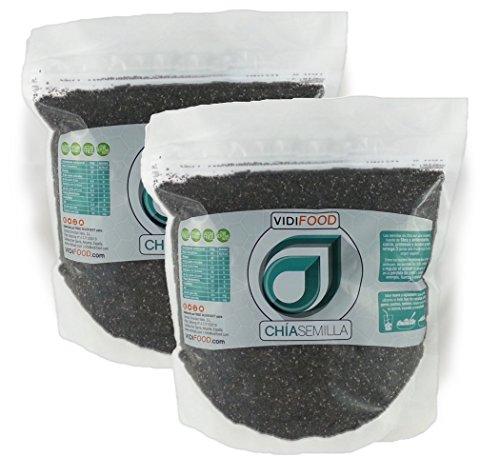 Semillas de Chía Naturales - 2 x 1 kg - Alta Calidad - Fuente Rica de Omega-3, Fibra y Proteínas...