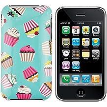 gada - Handyhülle für Apple iPhone 3GS 3 3G - Sehr schönes Hardcase im süßen Cupcake Design