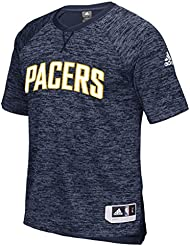Indiana Pacers Adidas 2016 NBA Men's On-Court Authentic S/S Shooting shirt Chemise