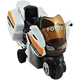 DealBindaas Die Cast Metal 1:32 Bike Police | Pull Back Action | Dinky Car | Toys | Children Gift Collection (White)