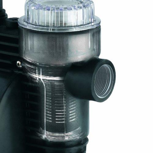 Einhell BG-WW 1136 Hauswasserwerk, 1100 Watt, 3600 l/h Fördermenge, 19,2 l Behälter, Edelstahlanschlüsse, Manometer - 2