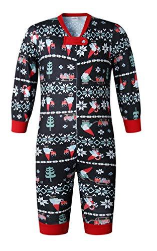 ECOWISH Weihnachten Schlafanzug Familien Outfit Mutter Vater Kind Baby Pajama Langarm Nachtwäsche Print Sleepwear Top Hose Set 162 Baby 18M