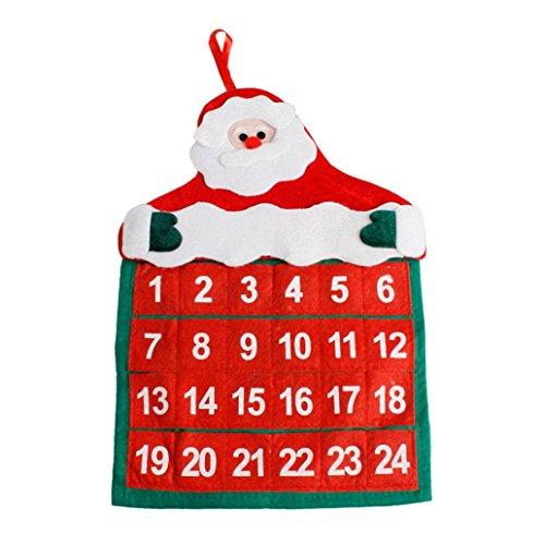 Sankt Claus Kalender Anhänger HARRYSTORE Weihnachten Dekorationen Kalender Hotel Lobby Familie (Dekorationen Outdoor Halloween Niedliche Hof)