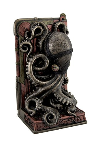 Steampunk Octopus Bronze Finish Single Buchstütze - Polyresin Bronze-finish