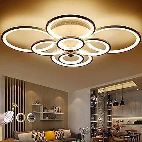 AllureFeng Télécommande de contrôle plafonnier salon salle de séjour chambre à coucher moderne lampe de plafond lumière réglable lumière légère plafonnier [niveau d'énergie A ++] , Dimmable - 8 head