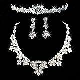 Brussels08 - Juego de joyería para mujer con diamantes de imitación...