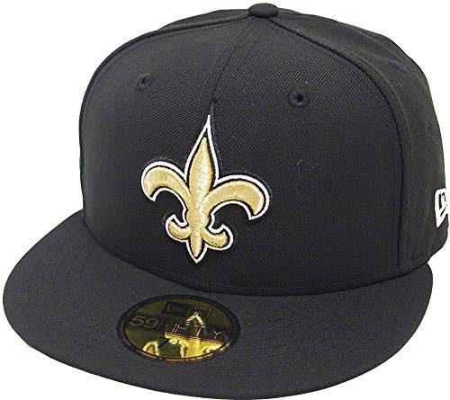 New Era New Orleans Saints Solid Black On Field NFL Cap 59fifty 5950 Fitted Limited Edition