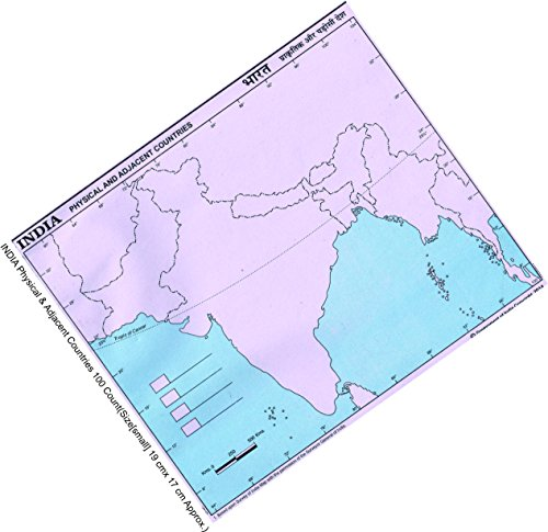 IMPRINT Practice Map India-Physical and Adjacent Maps for Countries (Small) - Set of 100