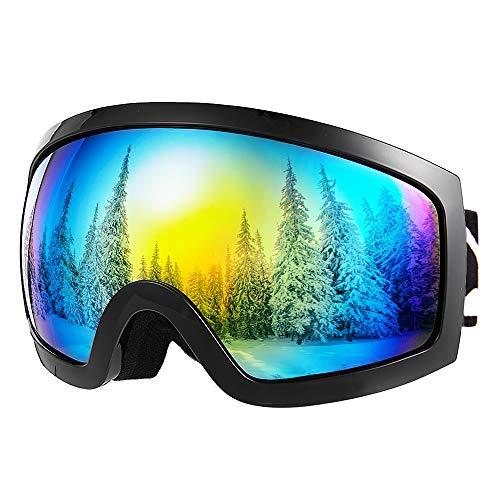 Bfull Skibrille, Anti-Beschlag und Windfeste Snowboard-Brille für Männer, Frauen und Jugendliche mit UV400 Schutz und Anti-Blend-Gläsern