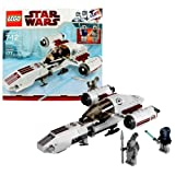 #7: Lego Year 2010 Star Wars Animated Series The Clone Wars Vehicle Set #8085 - FREECO SPEEDER with Opening Cockpit and Rear Cargo Hold Plus 2 Mini Figures - Anakin Skywalker with Blue Lightsaber and Talz Chieftain with Spear (Total Pieces : 177)