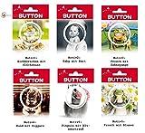 Avanti Button mit lustigen Motiven Pins mit Pinguin Frosch Hund Buttons Farbe Frosch Zahnspange