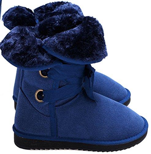 Zeagoo signore invernali neve stivali Faux foderato di pelliccia Snow Boots Faux Fur pioggia calda e neve stivali