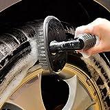 #6: CVANU® Wheel Tire Rim Scrub Brush Hub Clean Wash Useful Brush Car Truck Motorcycle Bike Washing Cleaning Tool for Toyota Innova Crysta