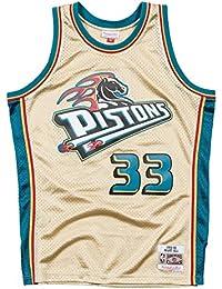 Mitchell & Ness NBA Detroit Pistons Grant Hill 33 1998-99 Retro Jersey Swingman Oficial