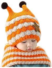 Invierno del bebé Niños Niñas Tejido Gorro y Pañuelos bufanda de Punto Caliente lana Cofia Capucha Bufanda Caps Sombreros