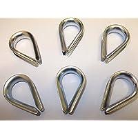6 x 6 mm 1/4 pulgadas cuerda de alambre dedales de acero fuerte cable cuerda cadena alambre