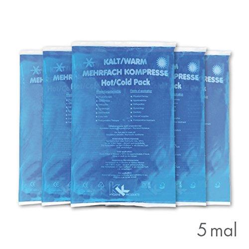 5 x KK-Hygiene Kalt-Warm Kompressen Mehrfachkompresse 16 x 26 cm mikrowellengeeignet -