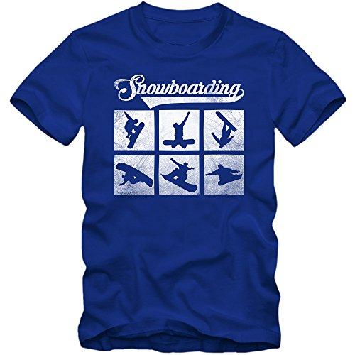 Snowboarden T-Shirt | Wintersport | Snowboarden |Schnee | Après Ski | Herrenshirt © Shirt Happenz Blau (Royalblue L190)