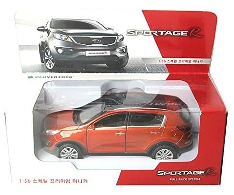 KIA SPORTAGE R 2013 Orange /Diecast/Front door open/Pull back