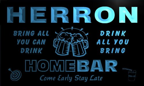 q19941-b-herron-family-name-home-bar-beer-mug-cheers-neon-light-sign