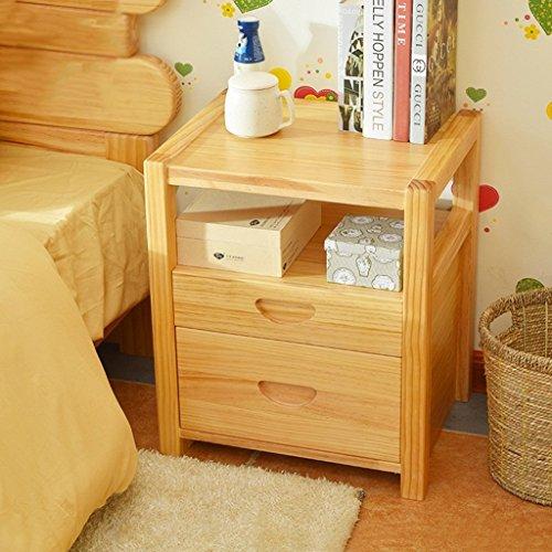 WEI XX Moderner einfacher Nachttisch mit 2 Fächern, Schlafzimmer-Nachttisch-Dekorations-Kabinetten, kleine Mini-Speicher-Kabinette Multi Funktions-Schließfächer,* 2 - Holz-speicher-kabinette