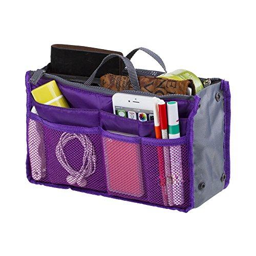 Make-Up-Organisator-Beutel-Perfector Insert Travel Organizer Zipper-Halter-Handtasche Purple