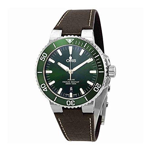 Oris Aquis automatico verde quadrante mens orologio 0173377304157–0752410EB