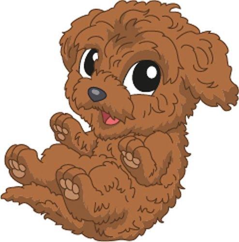 Bambinella® XL - Klebesticker - Motiv: Pudel Hund - Sticker ca. 10cm (Kurze Seite gemessen) - Hergestellt in eigener Werkstatt in Deutschland