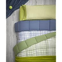 Nórdico Estocolmo reversible cuadrito / liso, 300gr/m2 (duvet reversible) - cama individual 90cm- color azul