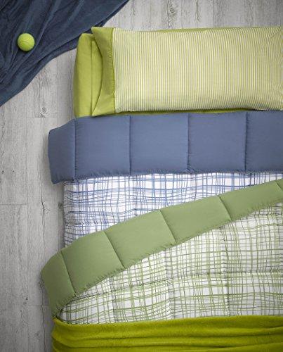Atenas Nórdico Estocolmo reversible cuadrito/liso, 300gr/m2 - cama matrimonio 135cm o 150cm - color beige