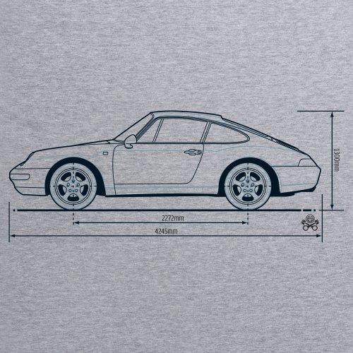 PistonHeads 933 Sports Car T-Shirt, Herren Grau Meliert
