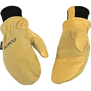 Kinco 901T Heatkeep Thermal Lining Premium Pigskin Leather Mitt, Work, X-Large, Golden (Pack of 6 Pairs) by KINCO INTERNATIONAL