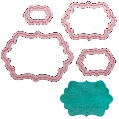 Sweet Elite Schablone Dottie Rahmen Cutter Set von 4Ausstechformen für Fondant, Modellierpaste,...