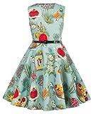 Kate Kasin Retro Swing Ballkleid Partykleid Sommer Kleid 11 Jahre KK250-21
