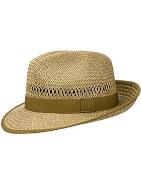 Classic Stroh Bogarthut (Farbe Natur) für Damen und Herren, leichter Strohhut mit Ripsband, Sommerhut mit breiter...