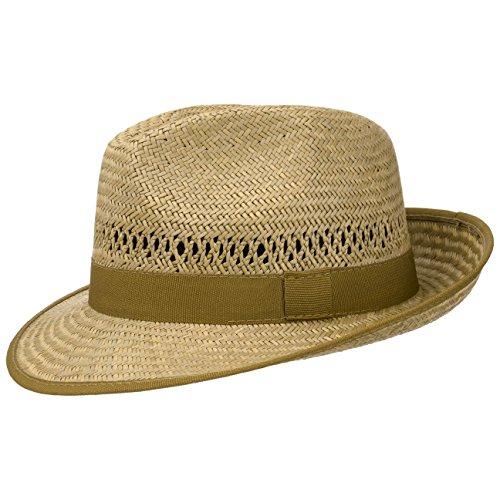 Lipodo Classic Bogarthut Stroh Damen/Herren | Hut Made in Italy | Strohhut mit Ripsband | Sonnenhut mit breiter Krempe (XL (60-61 cm)) (Mode Für Herren Breite Krempe)