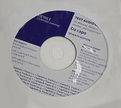 Text Audio CD-ROM (Stand Alone) for Moneti/Lazzarino's Da capo by Antonio Morena (2010-01-01)