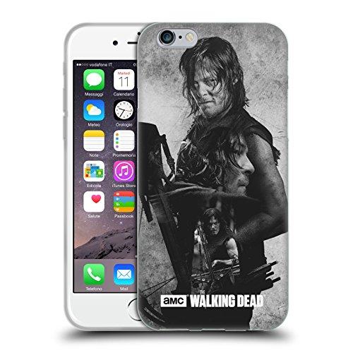 Officiel AMC The Walking Dead Daryl Exposition Double Étui Coque en Gel molle pour Apple iPhone 6 / 6s