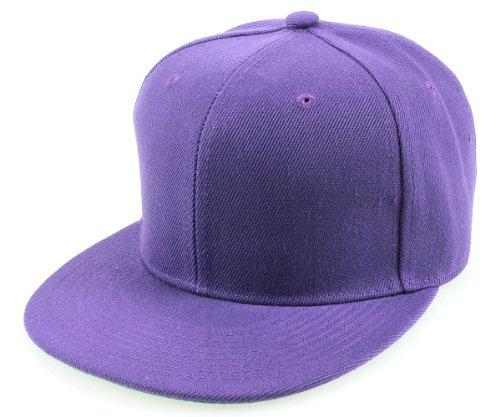 Sense42   Snapback Cap   Uni   Unisex, für Damen und Herren   One Size   größemverstellbar   großer Schirm   einfarbig   violett