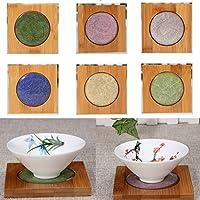 Bluelover Creativo Square bambù Coaster tè tazza titolare Mat ghiaccio-crepa